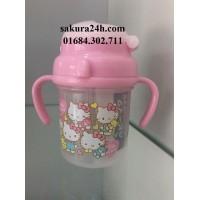 Bình nước có vòi hút Hello Kitty