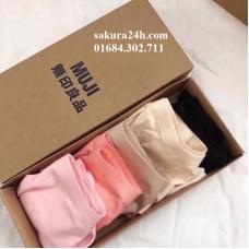 Hộp 5 quần lót nữ Muji không đường may